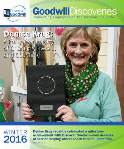 2016 january employee newsletter by discover goodwill issuu