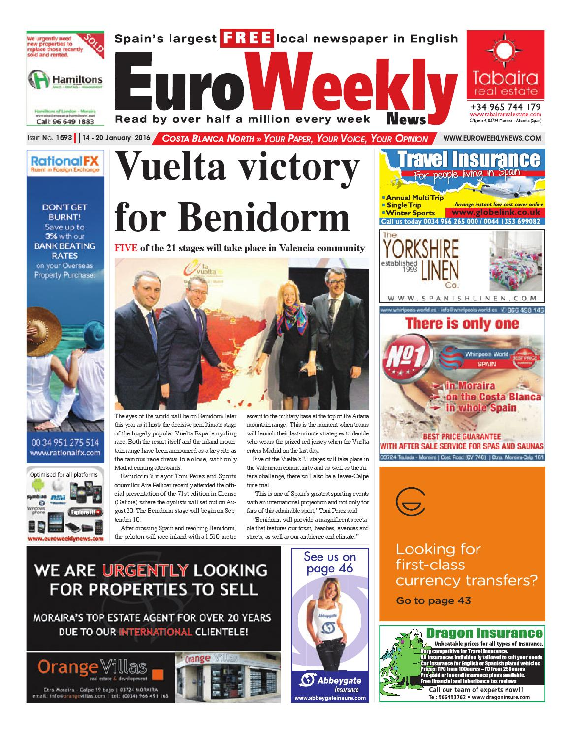 Euro Weekly News Costa Blanca North 14 20 January 2016 Issue  # Muebles Nunez Turre