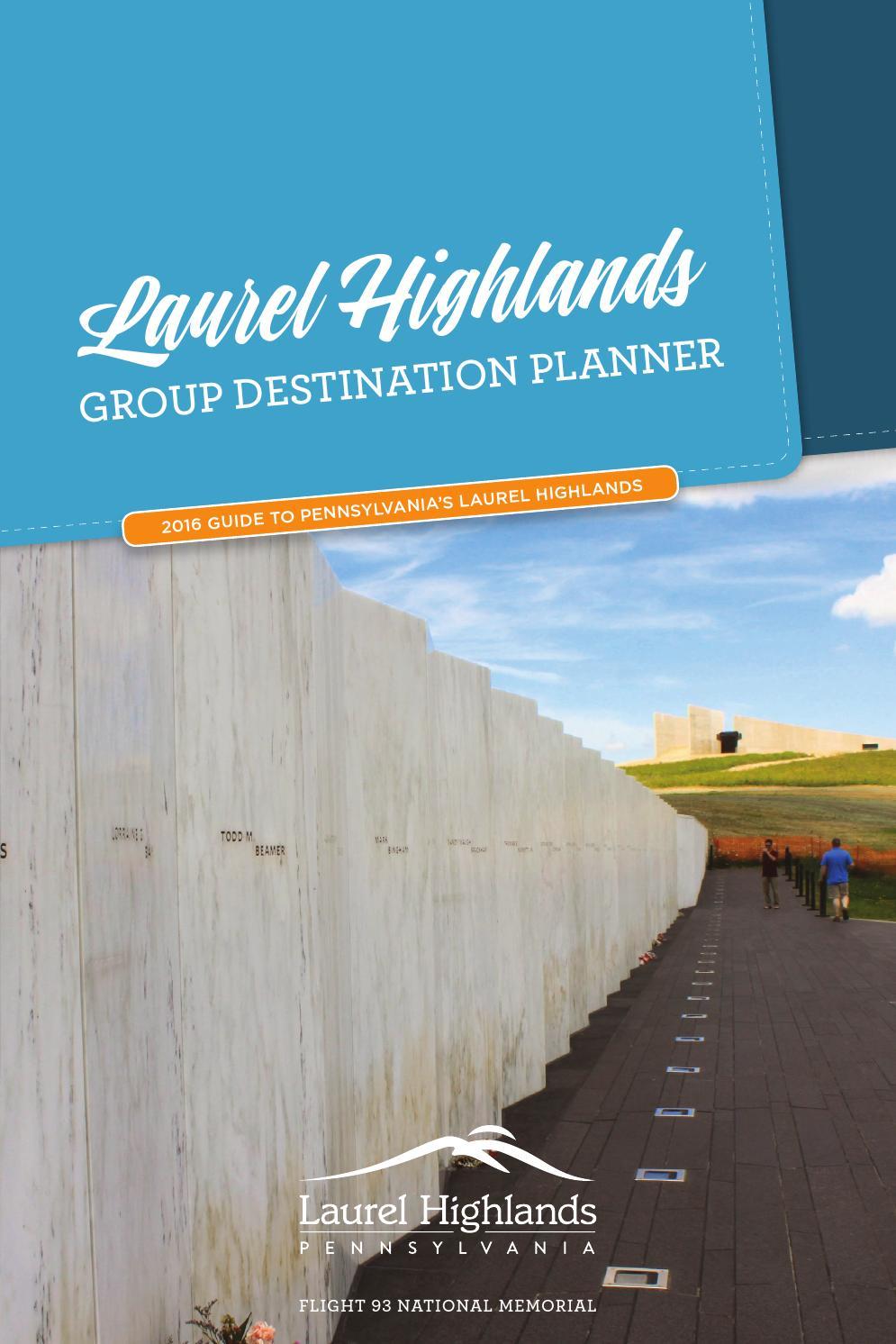 2016 Laurel Highlands Group Destination Planner by Laurel Highlands ...