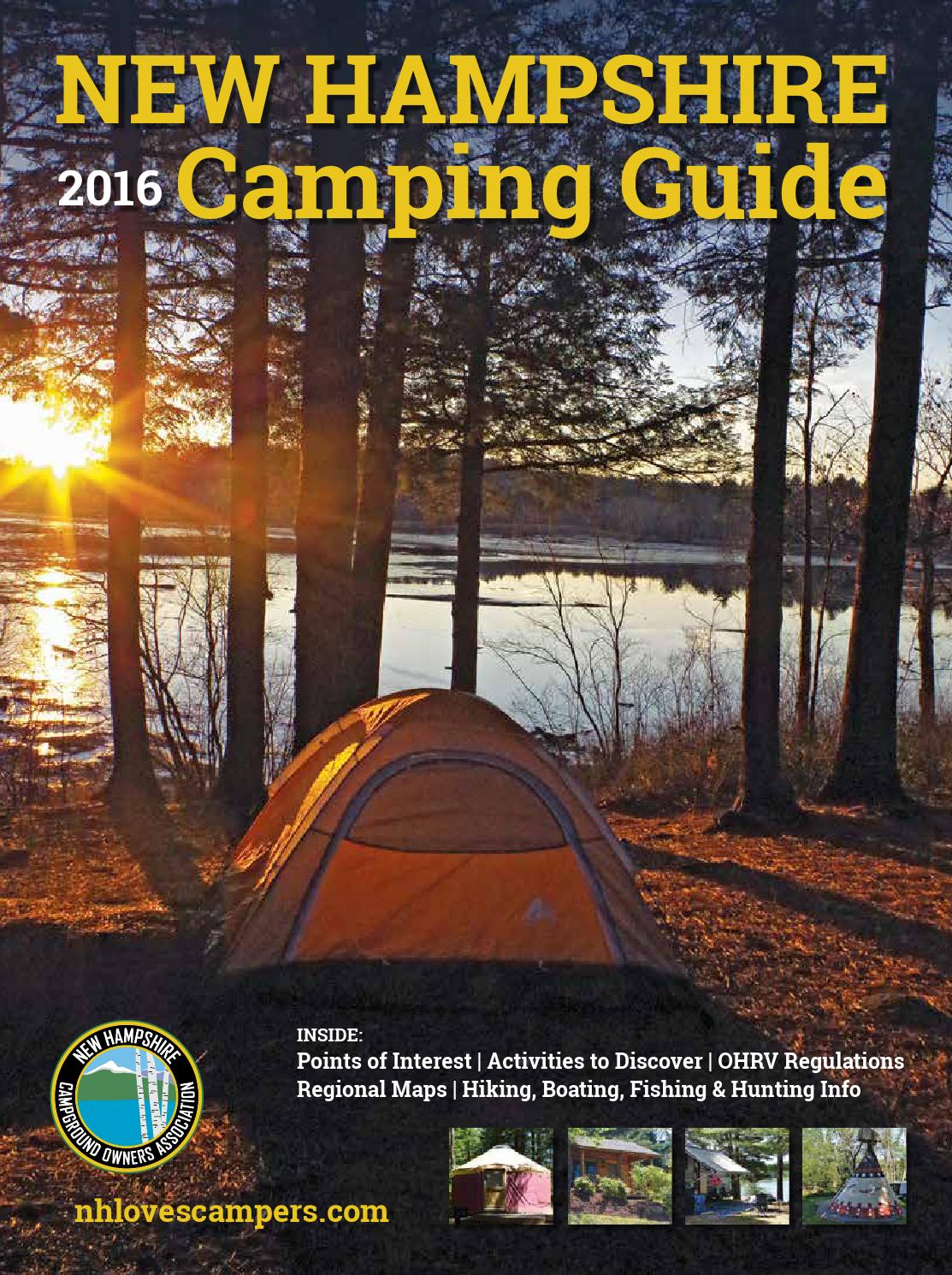Cottages amp campground rentals riverview cottages campground jackman - Nh Camping Guide 2016 By New Hampshire Campground Owners Association Issuu