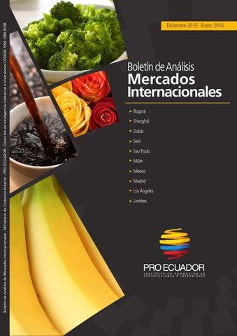 Boletín de Analisis de Mercados Internacionales DIC 2015   ENE 2016 ... 8c60412fbb4