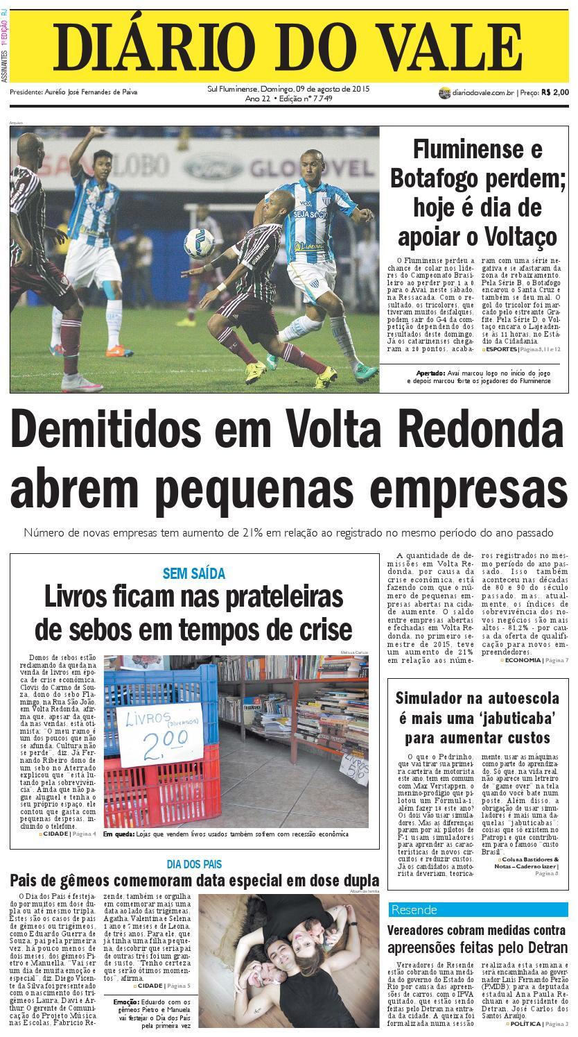 7749 diario domingo 09 08 2015 by Diário do Vale - issuu e3653fbc7f815