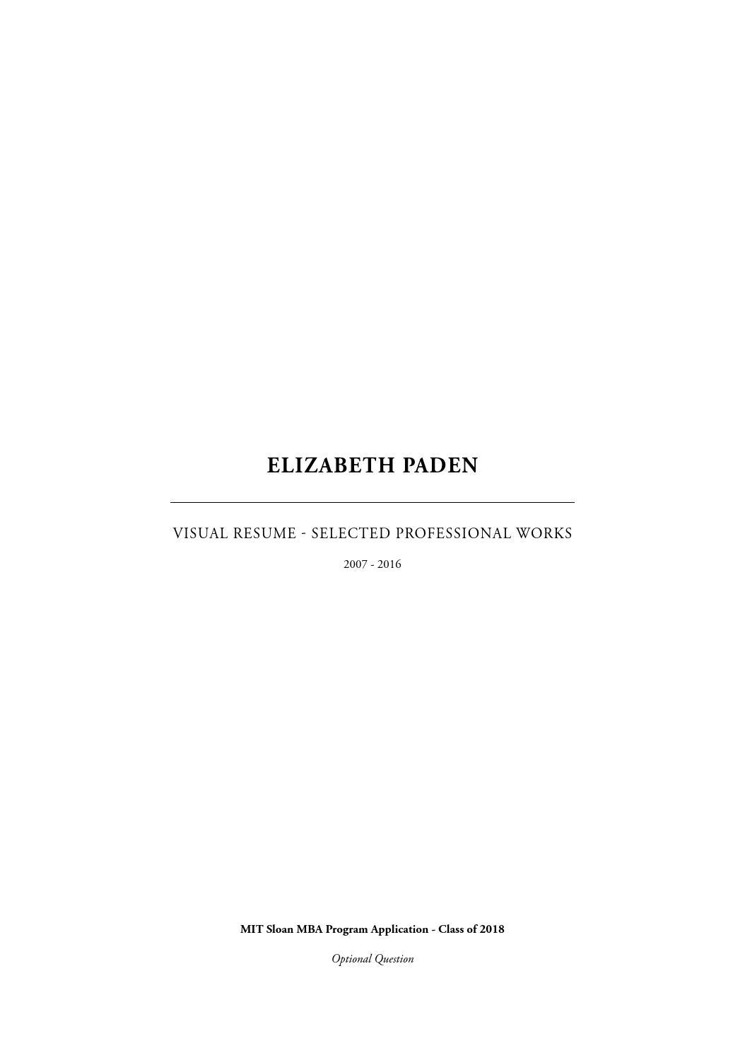 elizabeth paden - visual resume by elizabeth paden