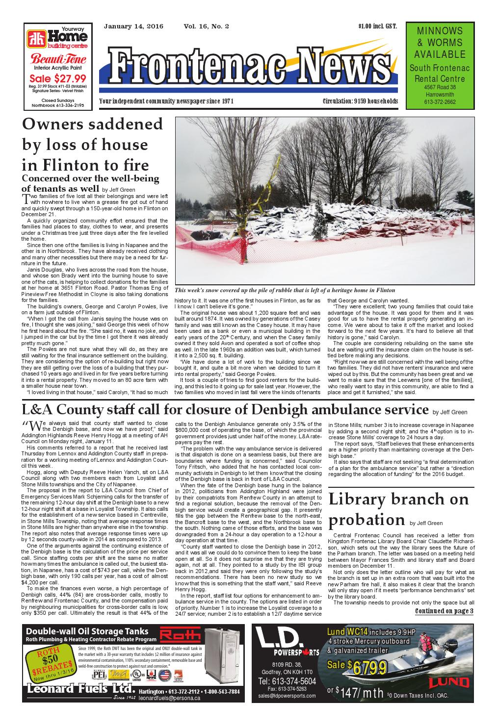 Vol16 no02 by frontenac news issuu geenschuldenfo Images