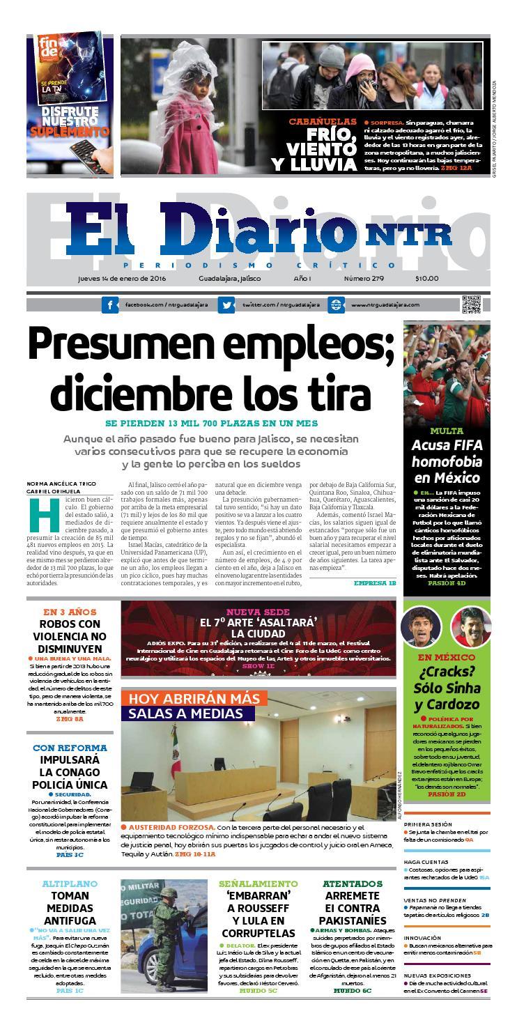El Diario NTR 279 by NTR Guadalajara - issuu