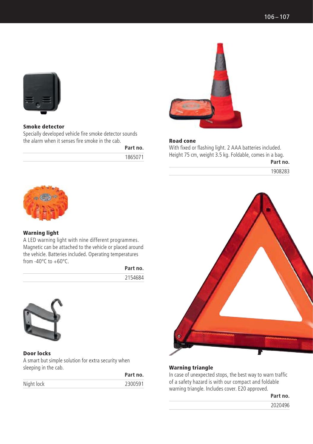 Scania Accessories Brochure 2016 By Great Britain Limited Fire Engines Diagram Traffic Cone Issuu