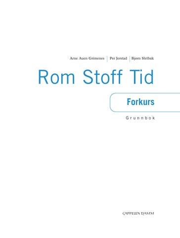 Rom Stoff Tid Forkurs Grunnbok f5305665f15d4