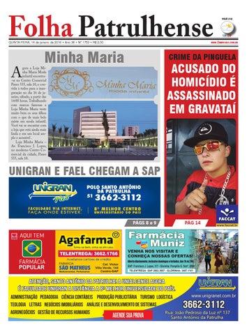 b072e0216b Edicao14012016 by Jornal Folha Patrulhense - issuu
