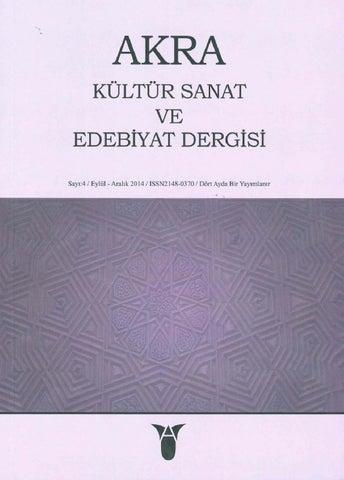 Akra Kültür Sanat Ve Edebiyat Dergisi 4 By Tuzla Belediyesi Issuu