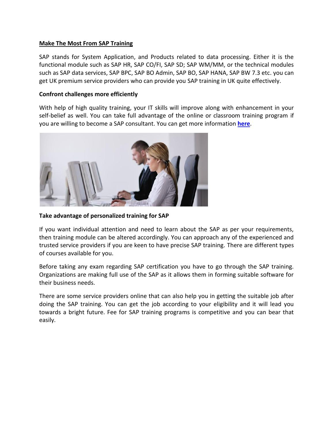 Make the most from sap training by Arnold Watson - issuu