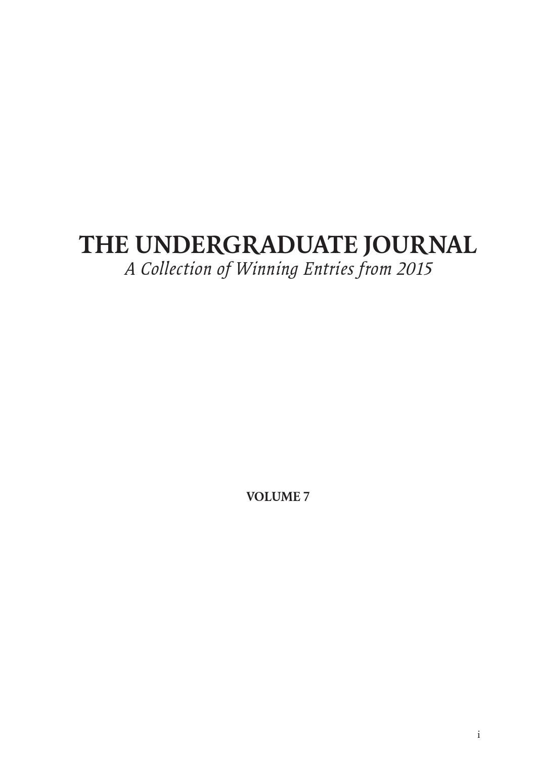 The Undergraduate Journal Volume 7 By Awards Issuu Pin Diagram Of Ic 741 Polytechnic Hub