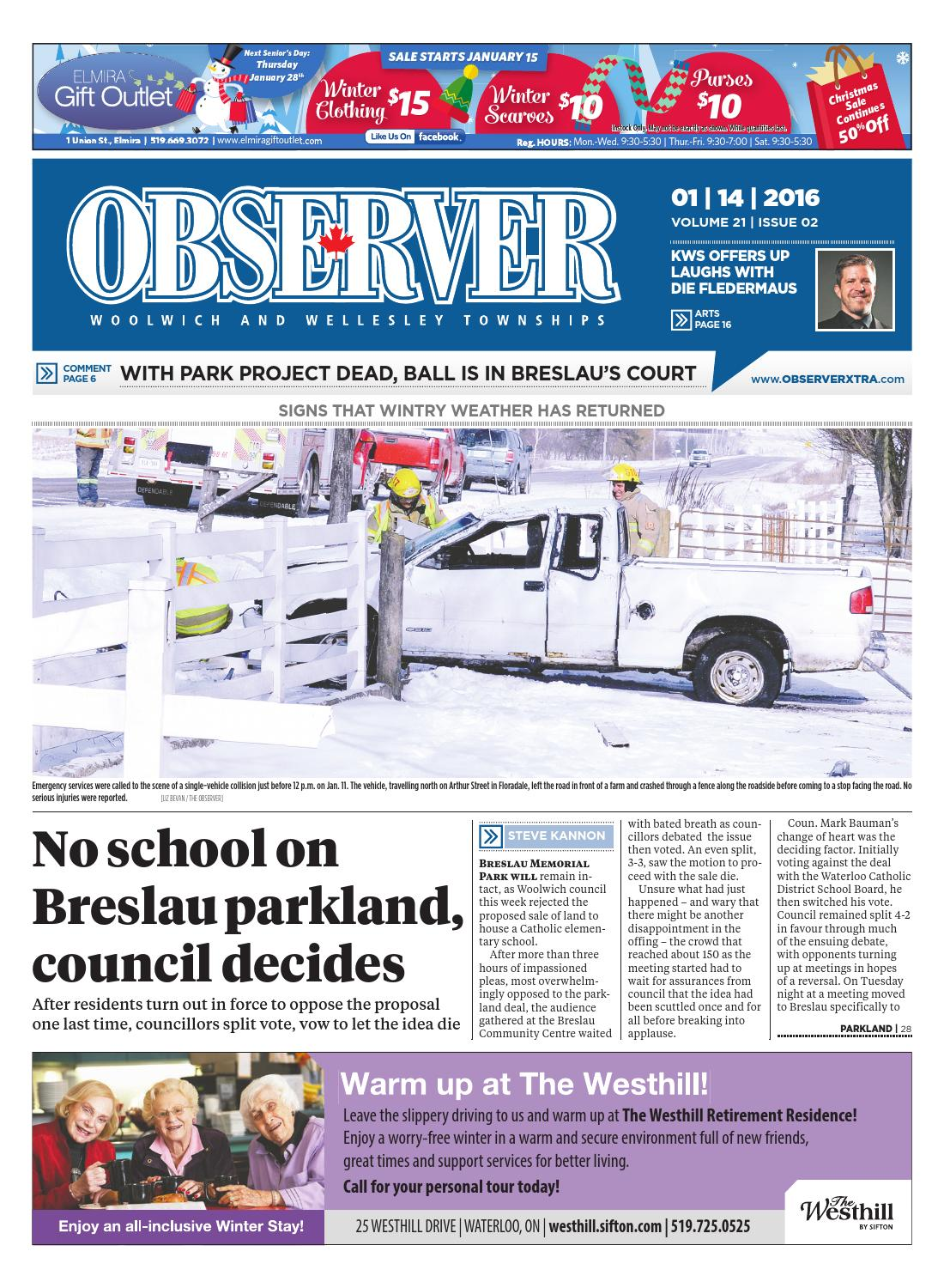 January 14, 2016 by Woolwich Observer - issuu