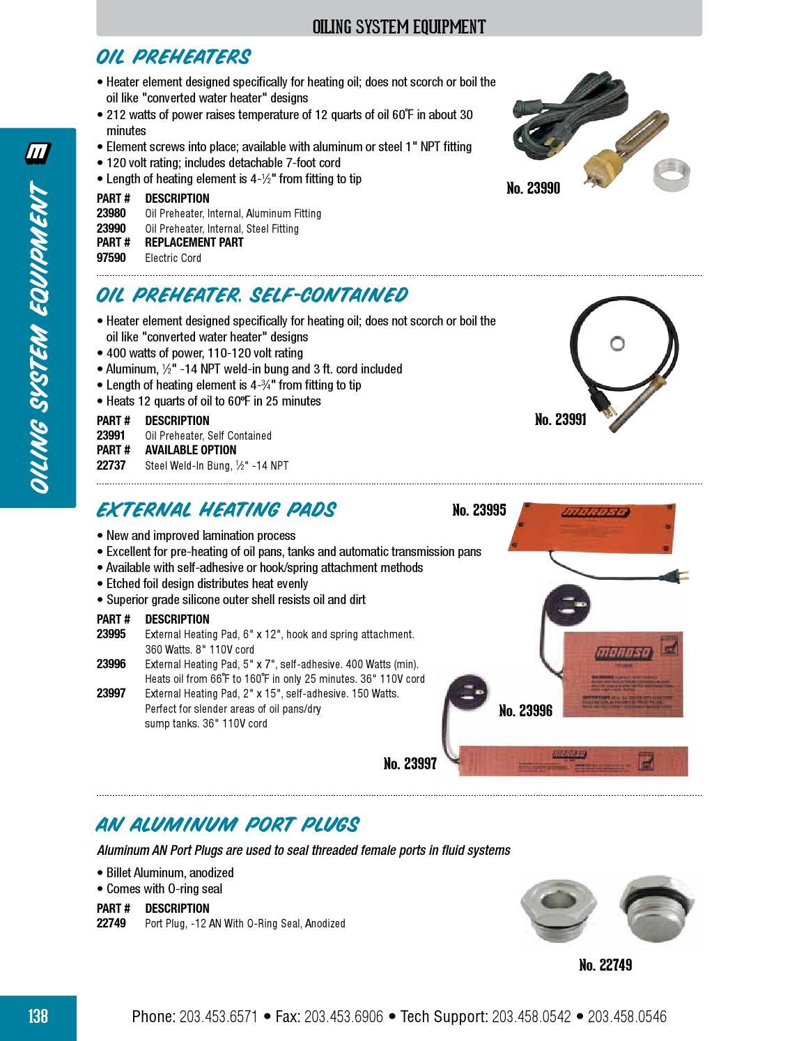 Moroso 23990 Steel Oil Pre-Heater
