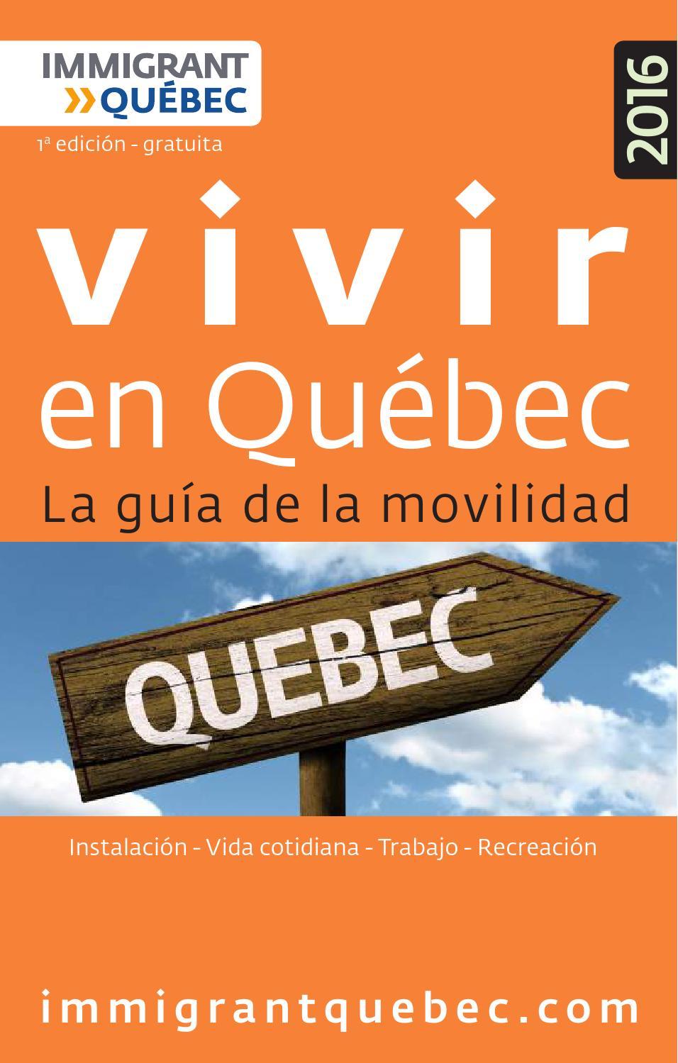 2016 vivir en quebec by CVbien - issuu