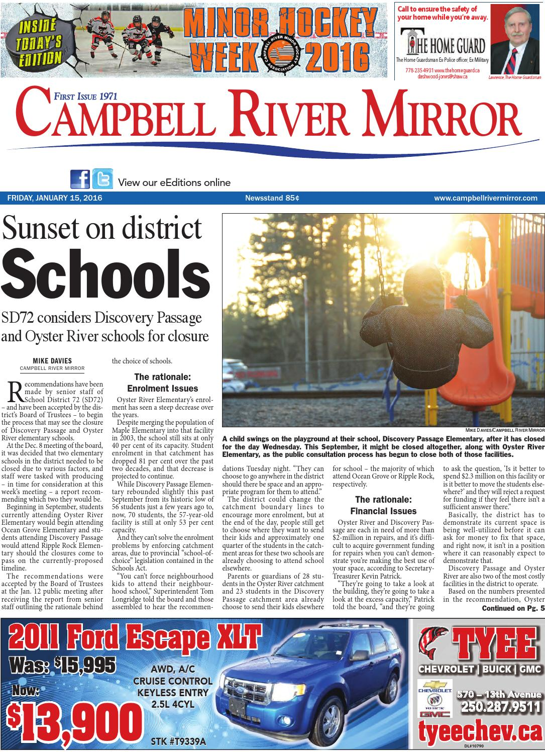 Campbell River Mirror January 15 2016 By Black Press Issuu