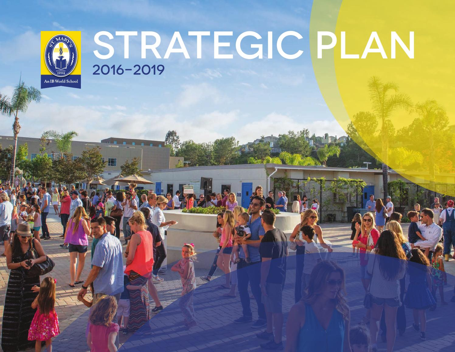 Strategic Plan 2016-2019 by St. Mary's School - Issuu