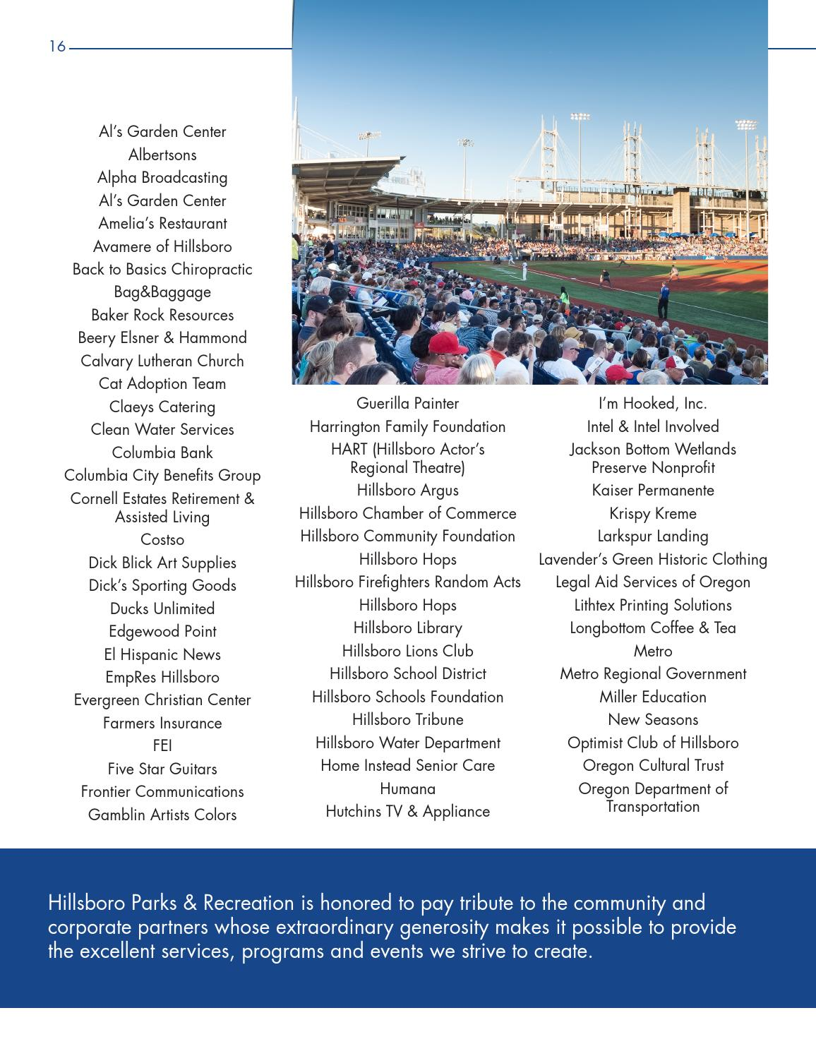 Hillsboro Parks & Recreation 2014 - 15 Annual Report by