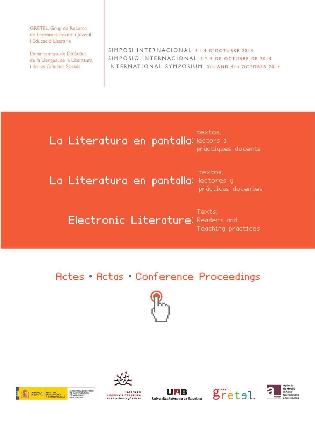 Actas Del Simposio Internacional La Literatura En Pantalla