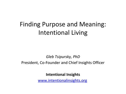 intentional living meaning