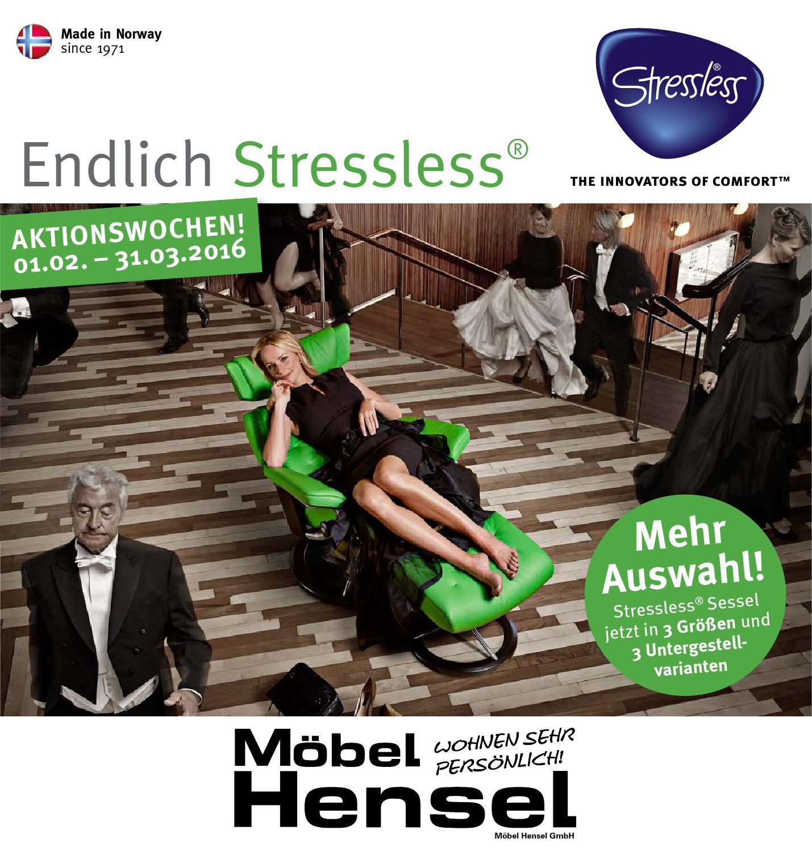 Stressless Februar 2016 By Mobel Hensel Issuu
