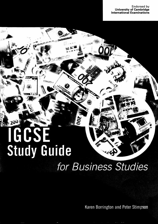 Igcse study guide for business studies by Jijun Du - issuu