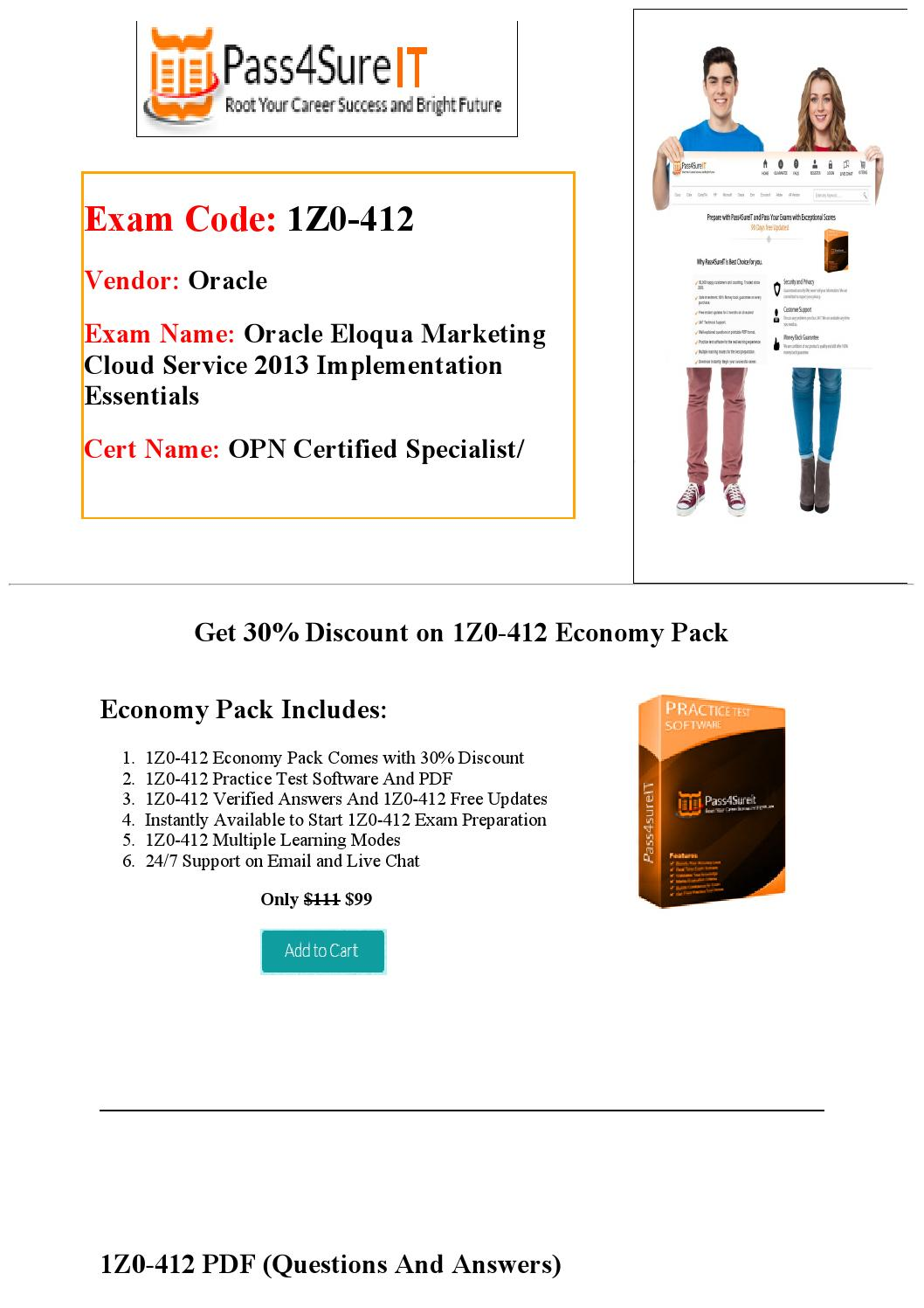 Pass4sure 1z0 412 Practice Test Updated 2016 By Brown Issuu
