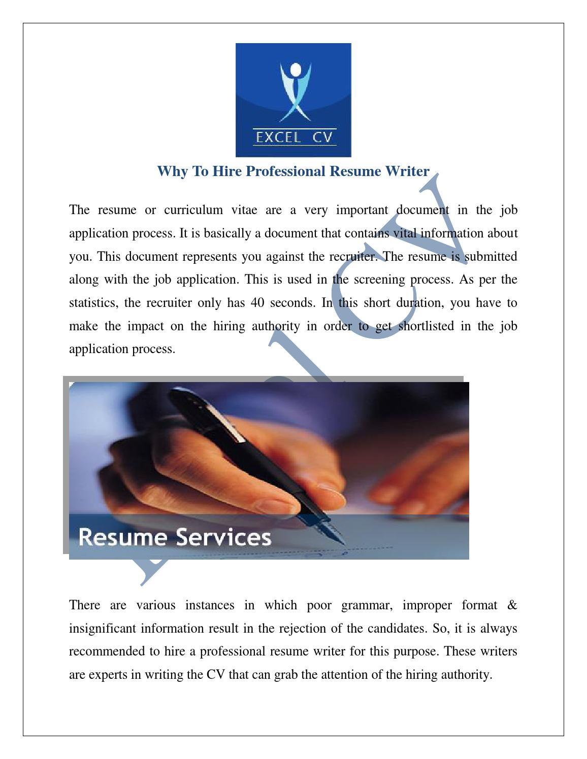 Cv resume writing services india
