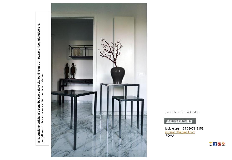 Inferro910 isuu by inferro910 mobili in ferro e materiali for Materiali mobili