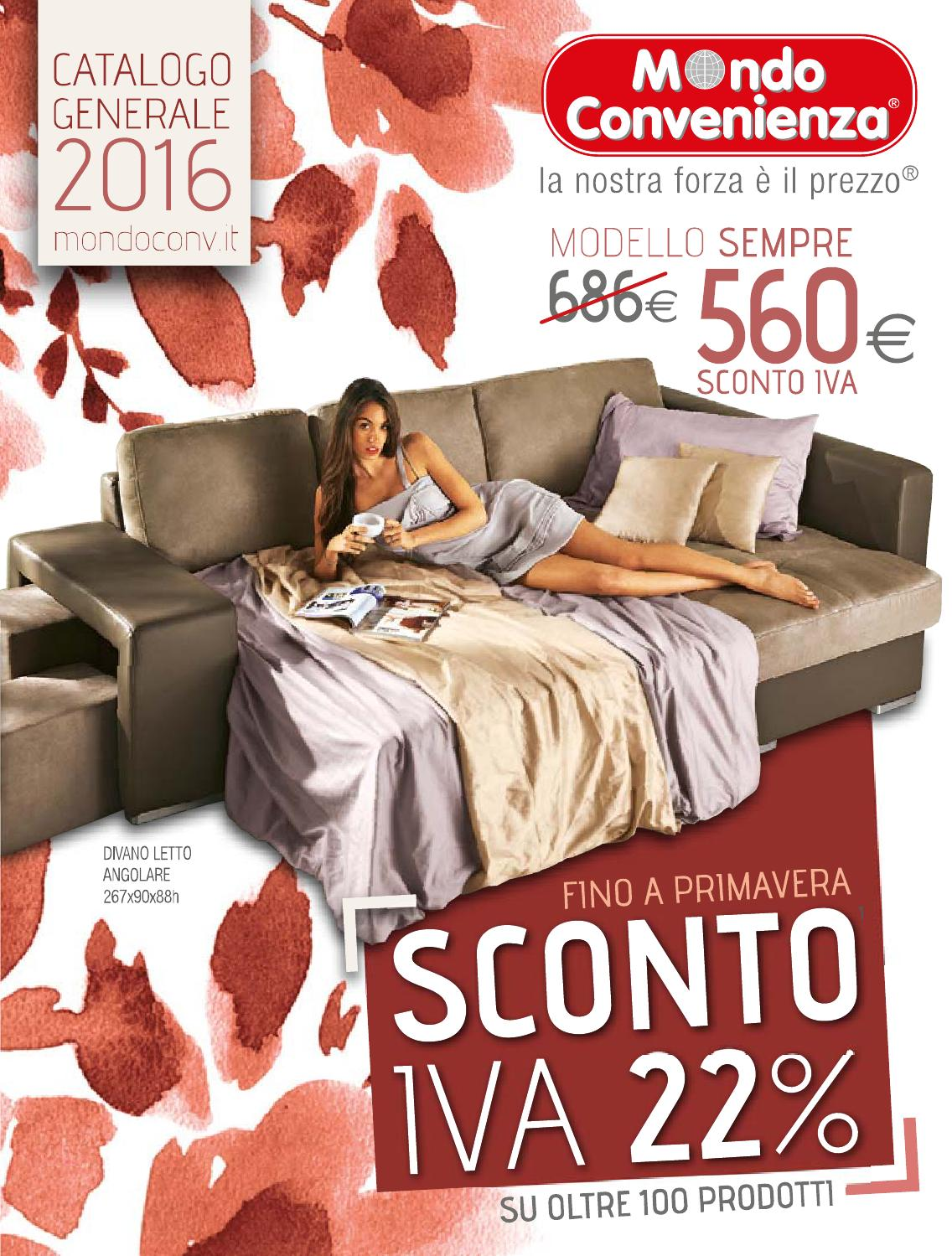 Mondo convenienza catalogo generale 2016 by mobilpro issuu for Mondo scarpa catalogo