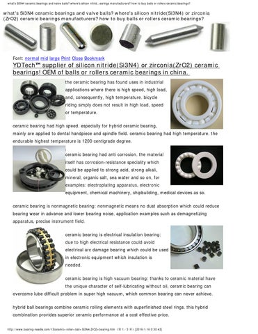 Ceramic roller ball si3n4 zro2 bearing by needle rollers - issuu