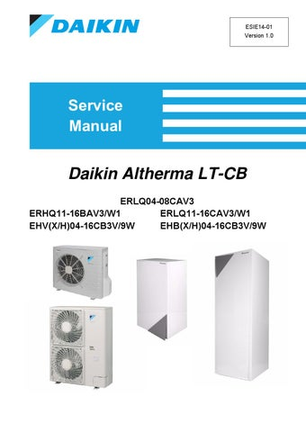 Daikin Altherma LT-CB - English Service Manual by PAULO