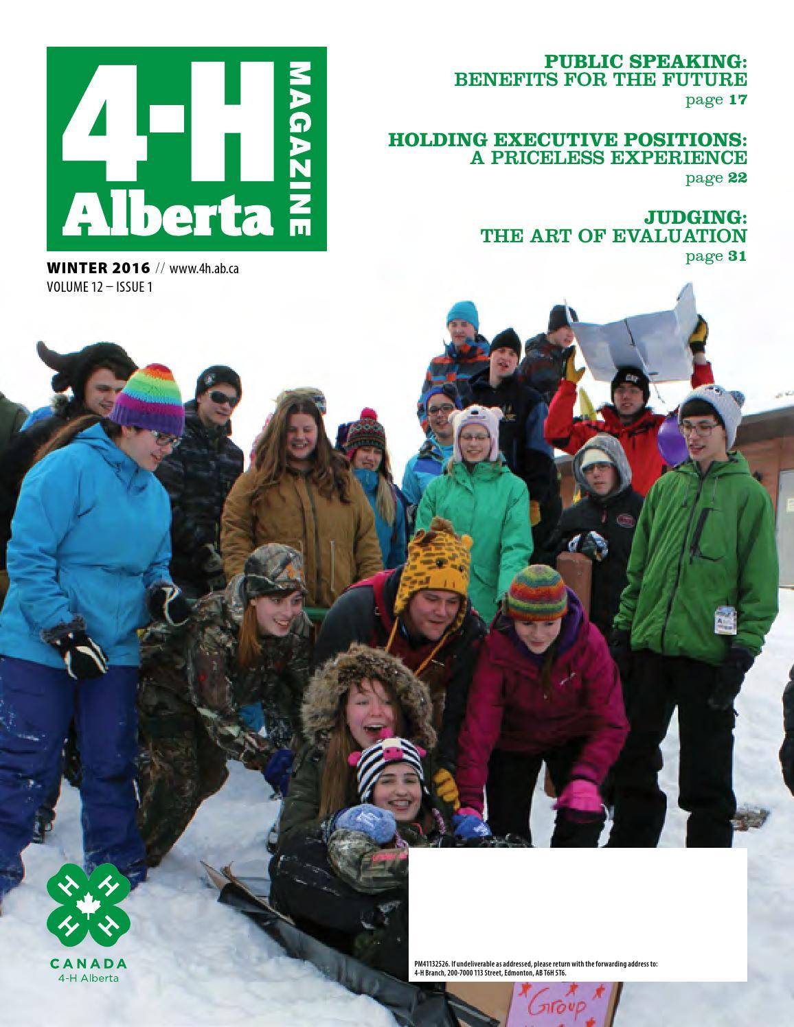 4-H Alberta Magazine - Winter 2016 by 4-H Alberta - issuu