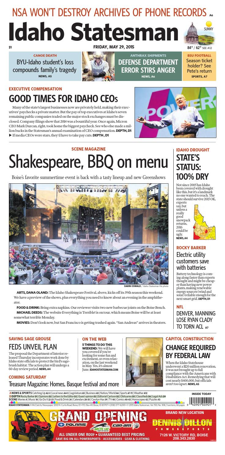 May 29 2015 Idaho Statesman By Idaho Statesman Issuu