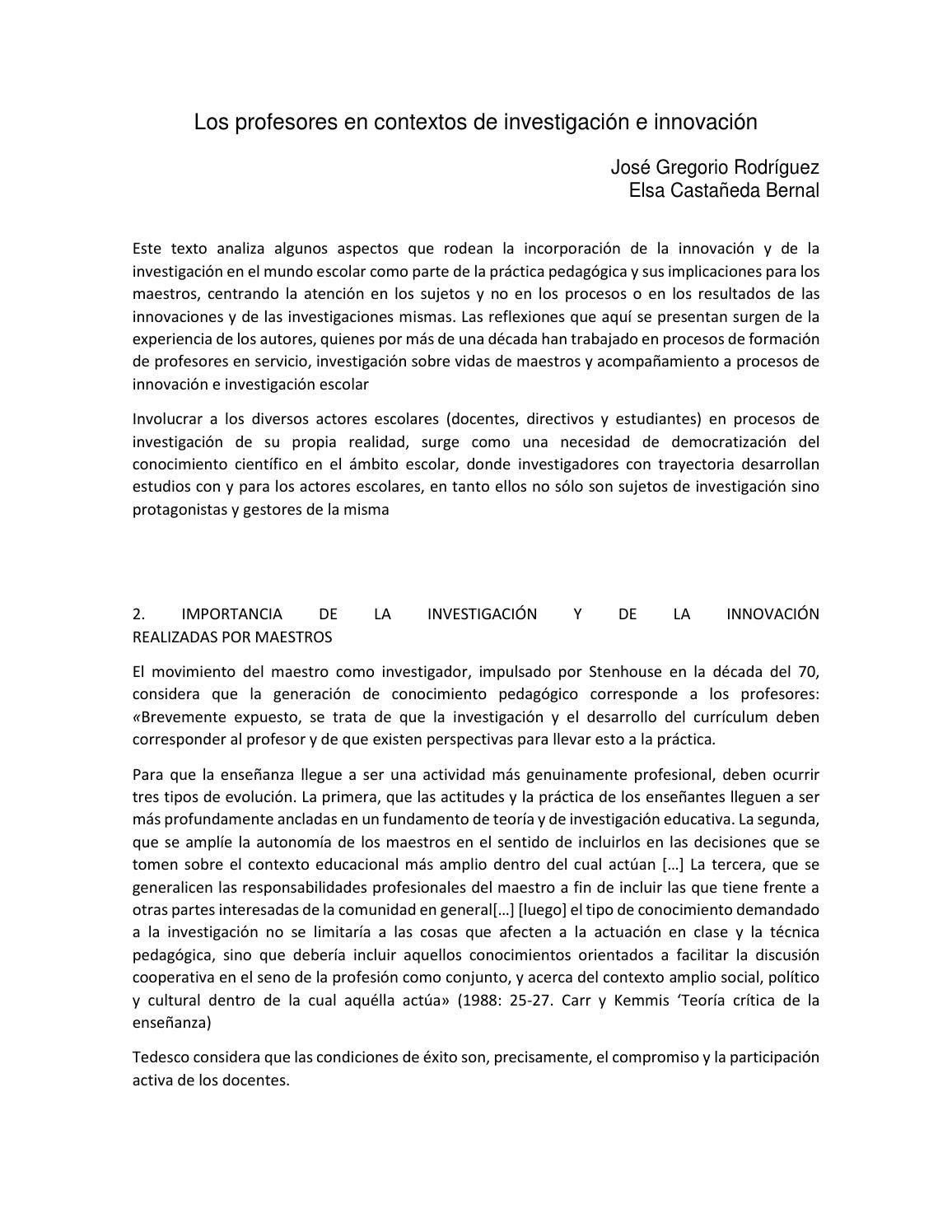 12 evidencia de lectura los profesores en el marco de investigacion ...