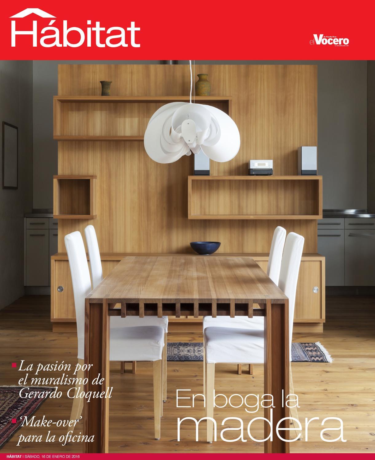 Revista digital h bitat 16 de enero de 2016 by el vocero for Habitat store muebles