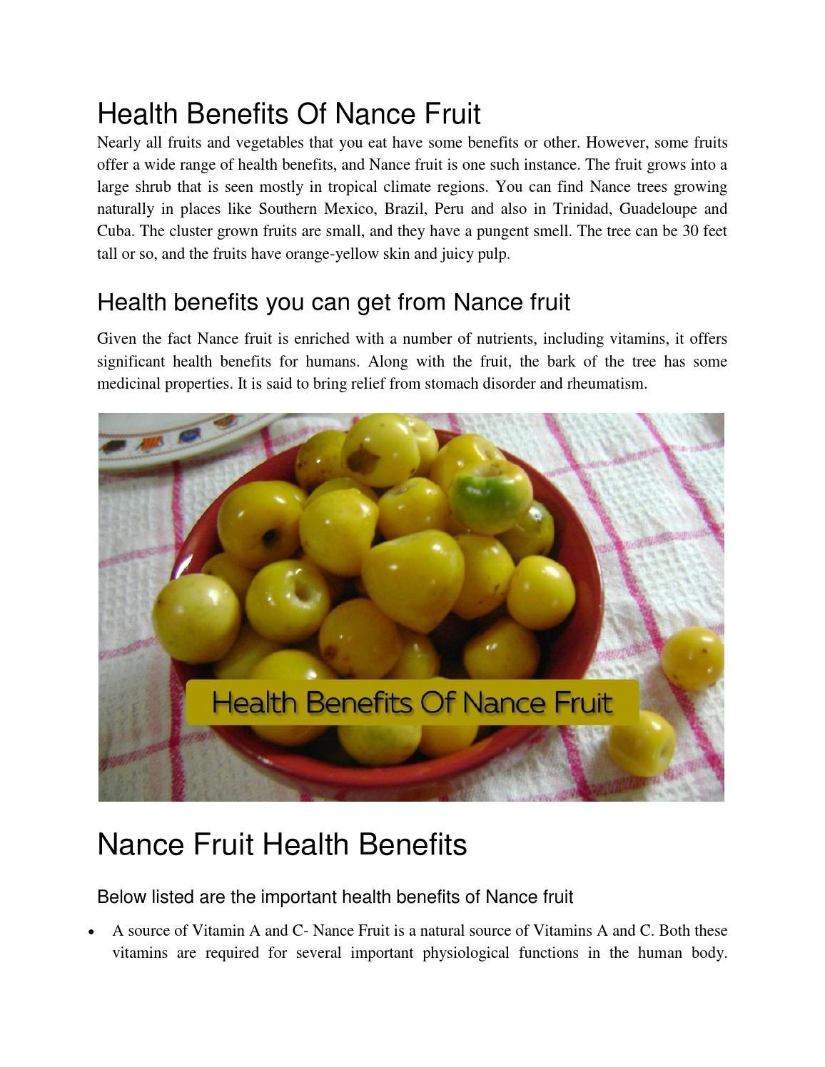 Health benefits of nance fruit by usha ats issuu