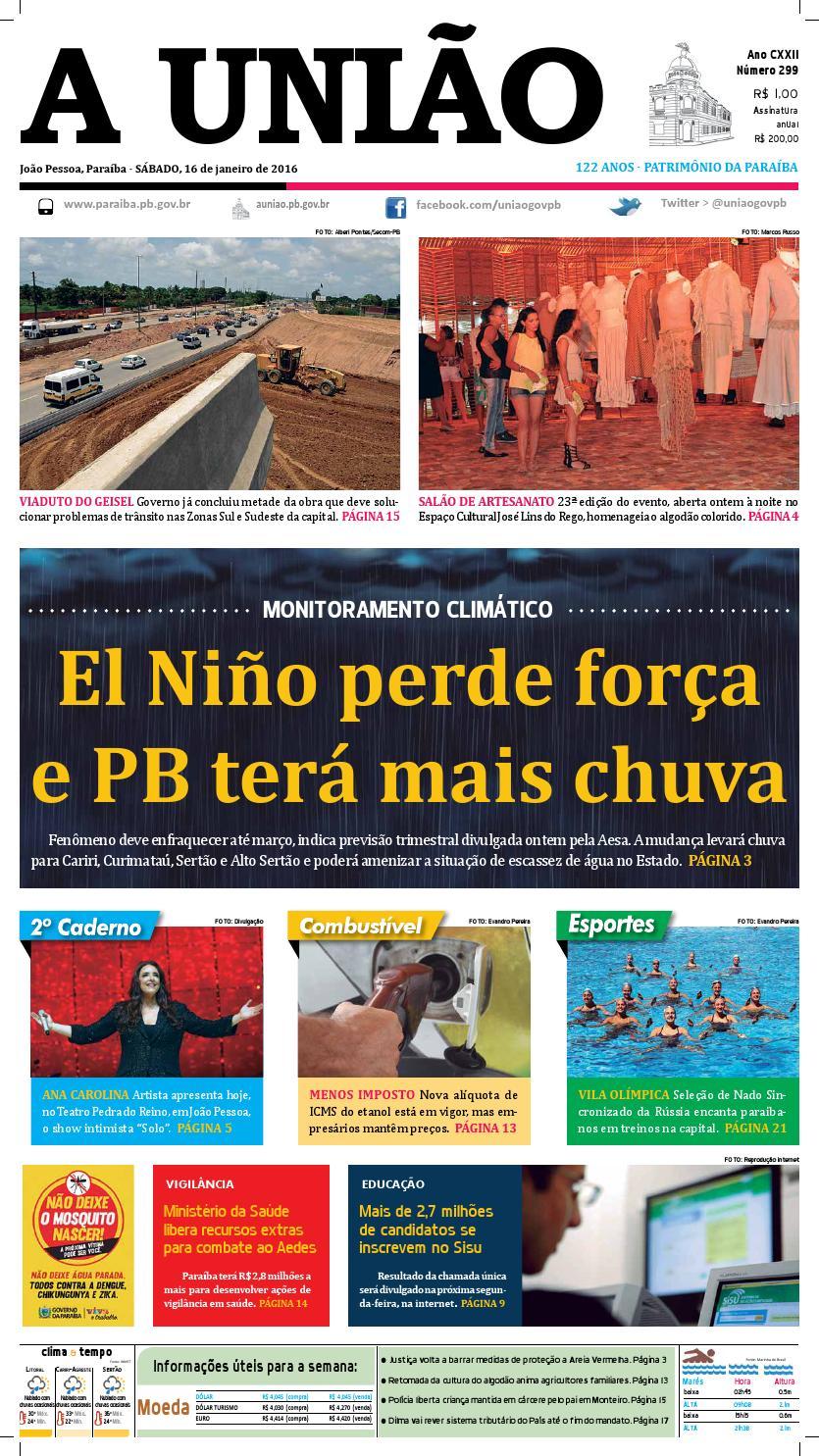 fde3a395910 Jornal A União 16 01 16 by Jornal A União - issuu
