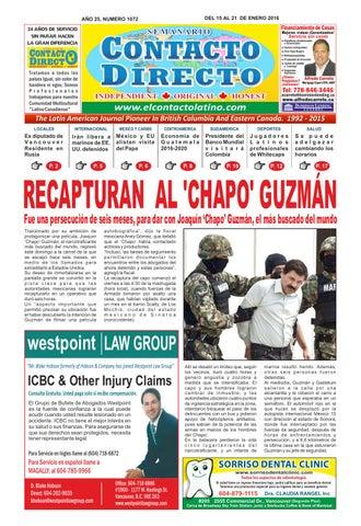Periódico Contacto directo edición 15 de enero 2016 by PERIÓDICO ... 35fb70e2acf