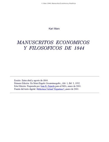 Manuscritos economicos filosoficos marx pdf