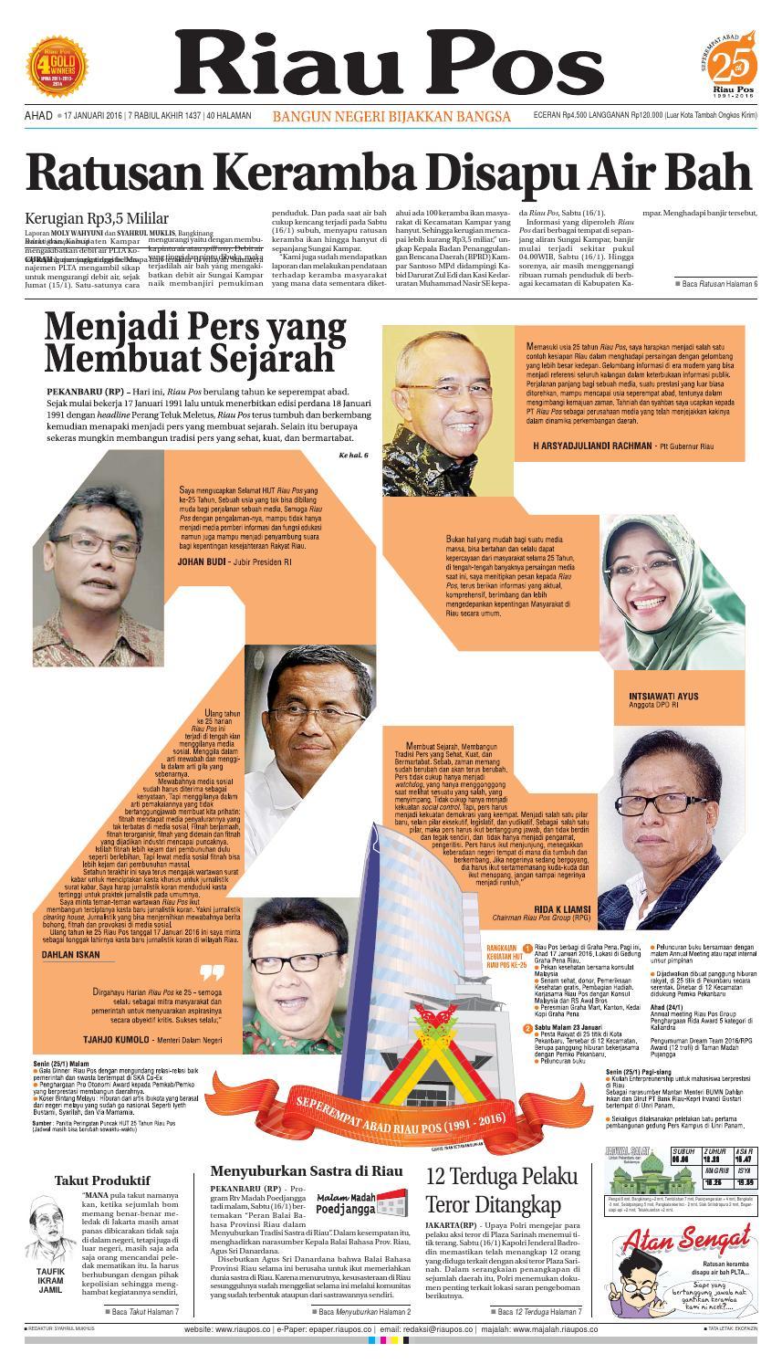 Riau Pos By Riau Pos Issuu