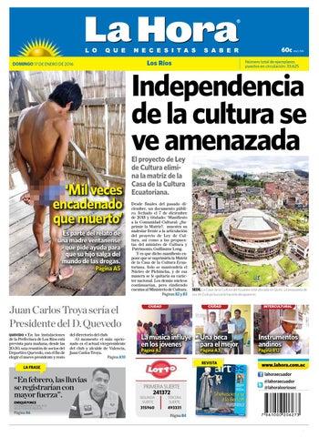 dabe863b5 Los rios 17 enero 2016 by Diario La Hora Ecuador - issuu