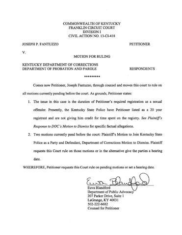 Joseph Fantuzzo v  Kentucky by Justice - issuu
