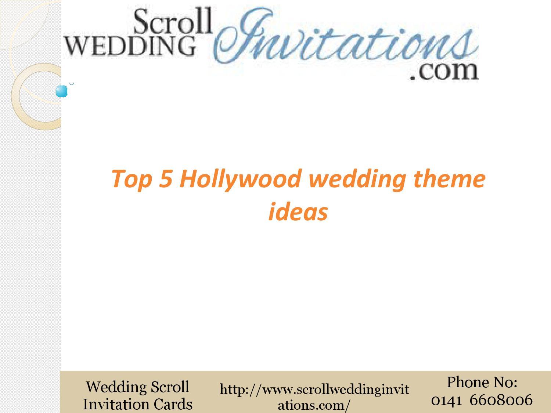 Top 5 hollywood wedding theme ideas by Scroll Wedding Invitations ...