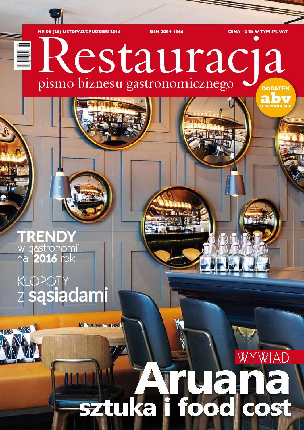 Restauracja 6 2015 Listopad Grudzien By Polskie Wydawnictwa