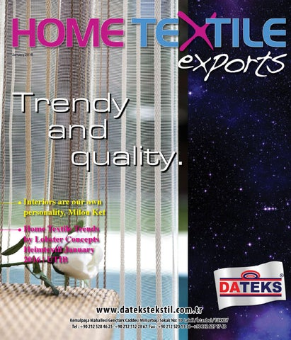 Home Textile Exports January16 By Home Textile Issuu