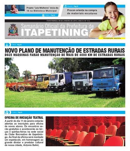 62714fd952419 Semanário  513 da Prefeitura de Itapetininga by Prefeitura Municipal ...