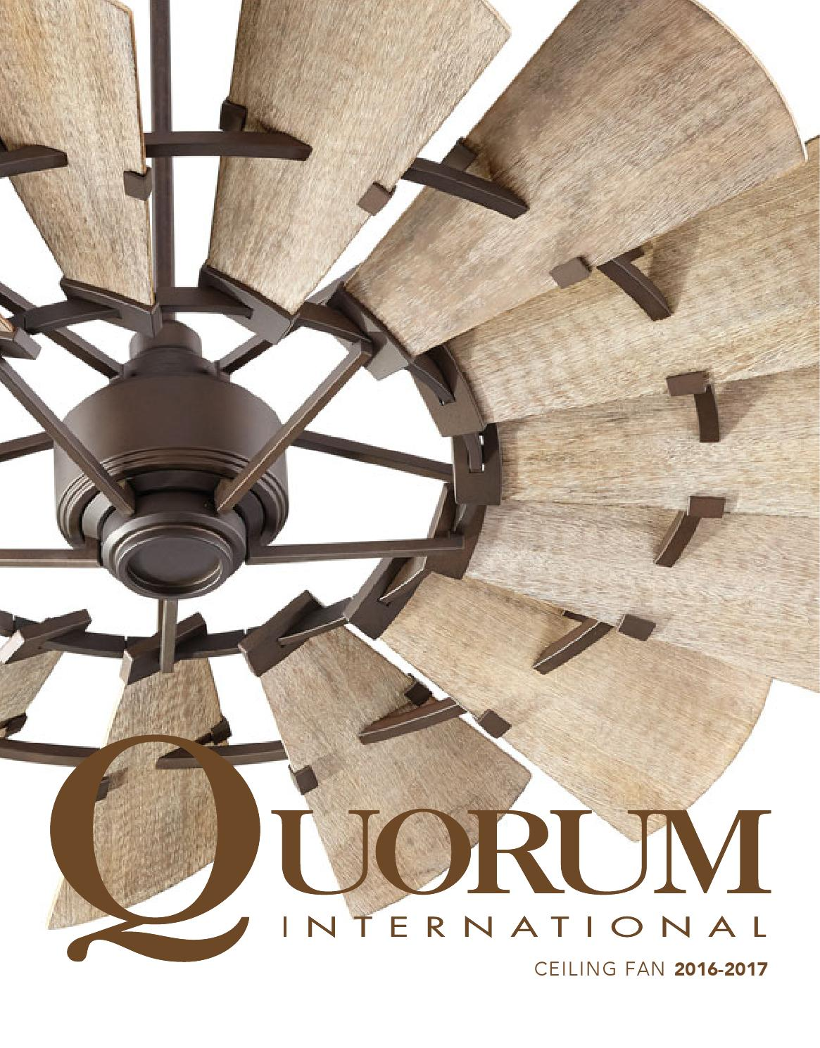 Quorum ceiling fans 2016 indoor ceiling fans 2016 fans by TFG - issuu