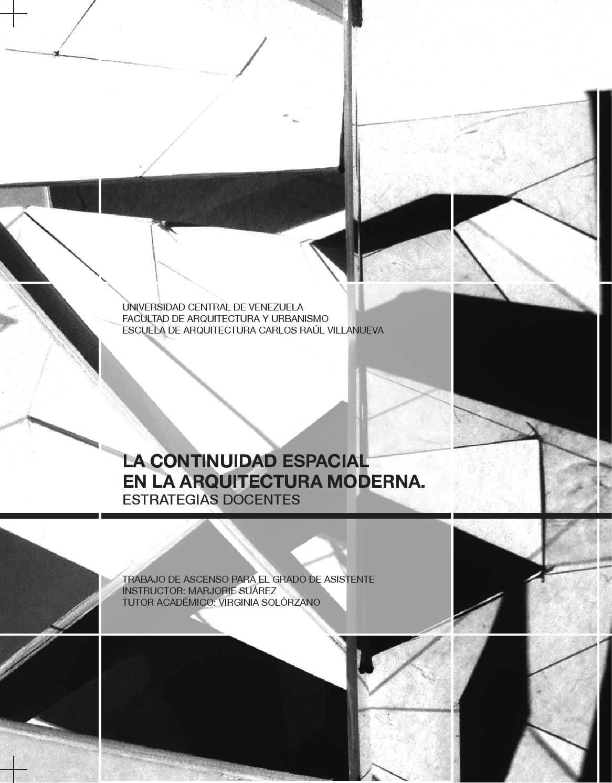 La continuidad espacial en la arquitectura moderna. Estrategias ...