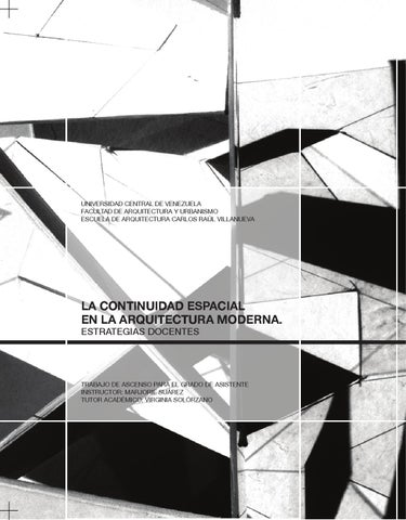 La continuidad espacial en la arquitectura moderna for 5 tecnicas de la arquitectura