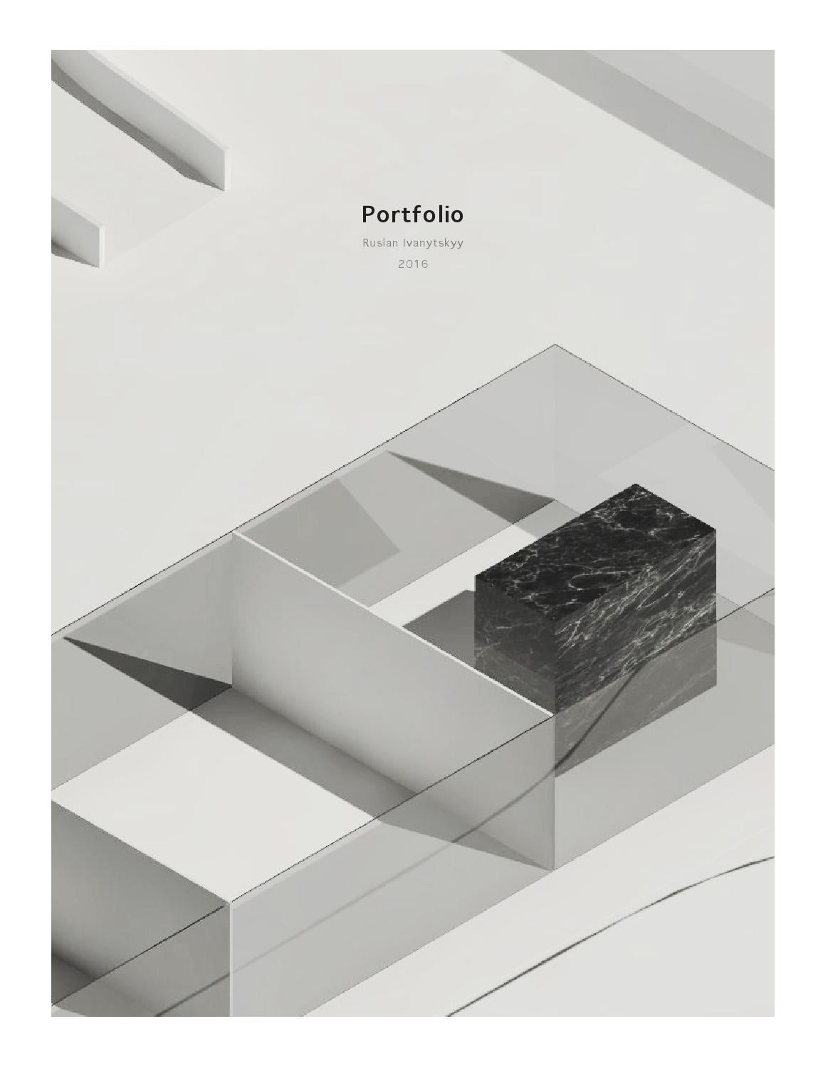 Book Cover Architecture Jobs : Architecture portfolio by ruslan ivanytskyy issuu